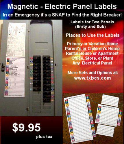 Circuit Breaker Panel Labels Beautiful Circuit Breaker Electrical Fuse Service Panel Labels 30 Gift Card Envelope Template Envelope Template Card Envelopes