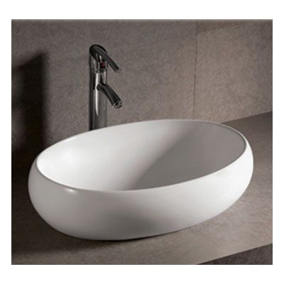 Whitehaus Isabella Collection Oval Vessel Sink No Overflow