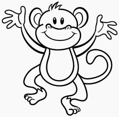 Mewarnai Gambar Hewan Monki Si Monyet Lucu Dengan Gambar
