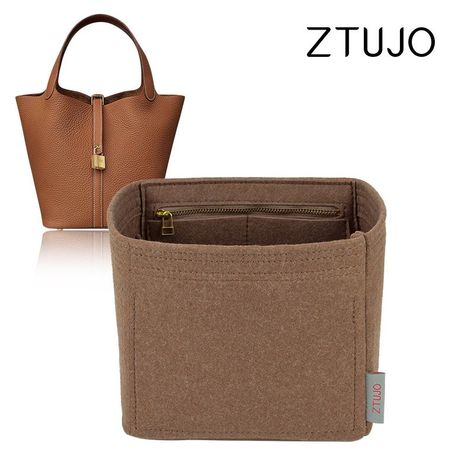 Premium High end version of Purse organizer specially for Hermes Picotin 18 /22 - Fit Hermes Picotin 22 / Light Brown