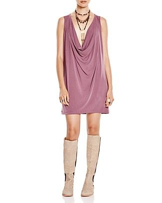 FREE PEOPLE Pillow Talk Draped Mini Dress. #freepeople #cloth #dress