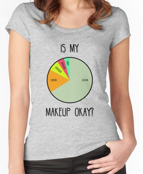 Is My Makeup Okay? Women's Fitted Scoop T-Shirt