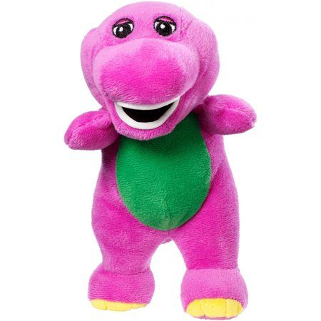 "Barney GUND Plush Purple Dinosaur Stuffed Animal Toy  7/"" With Tag"