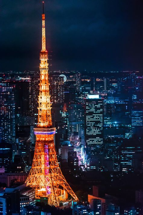 View Of Tokyo Tower From Roppongi Hills Oc 3333 X 5000 Tokyo Tower Tokyo Japan Travel Tokyo Skytree