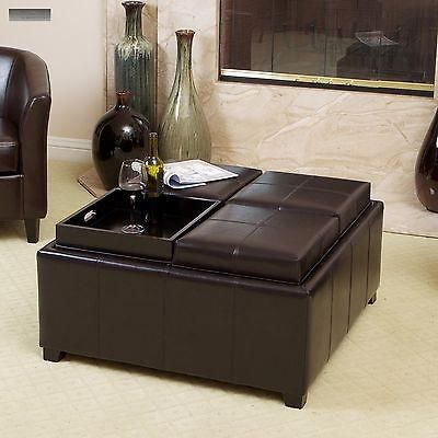 This Tray Top Storage Ottoman Does Double Duty In Your Living Room