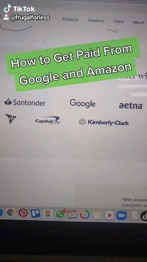 Get Paid from Amazon and Google