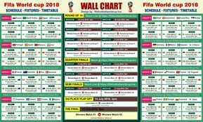 Download Fifa World Cup 2018 Wallchart Calender Keep Track Of Upcoming Matches Schedule Fixture World Cup Match World Cup Schedule World Cup 2018