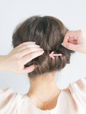 40代のまとめ髪に 大人アップヘアの簡単ヘアアレンジ 簡単 ヘア