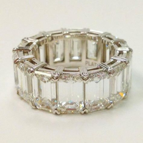 Gorgeous emerald cut eternity band - Schneider Gems, Boca Raton