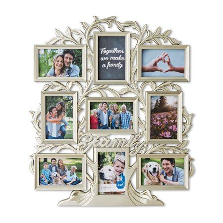 Mainstays 9 Opening Family Tree Wall Collage Picture Frame