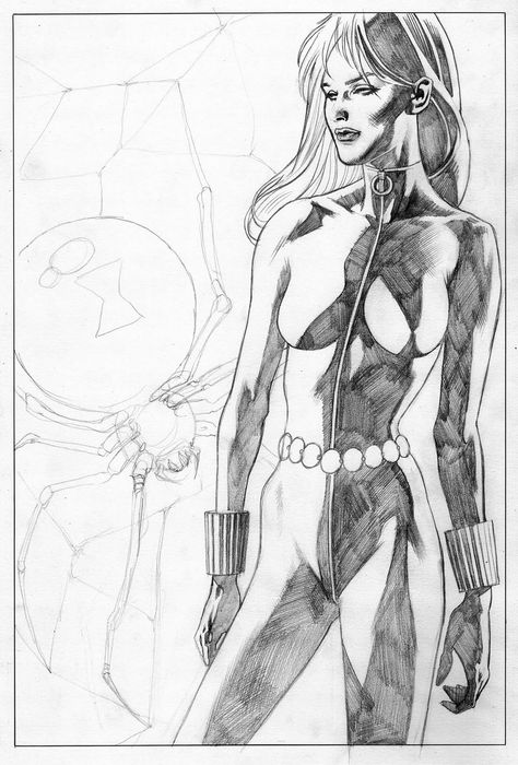 Black Widow by Kevin Nowlan | Kevin Nowlan | Pinterest | Ilustraciones