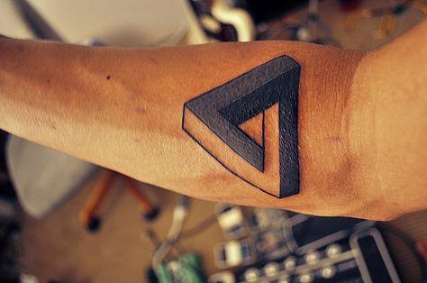 Penrose Triangle Impossible Shape Tattoos Pinterest Le