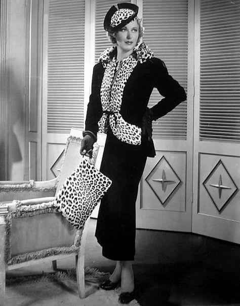 Grace Moore #vintage #leopard