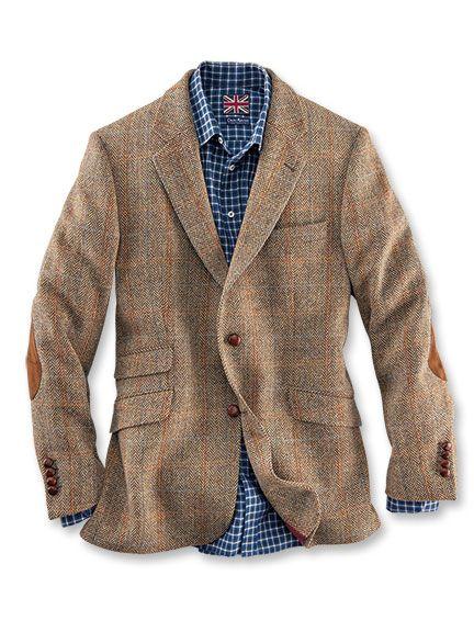 Shetland-Sakko aus Tweed in Muskat von Marling   Evans  e99d42f7035