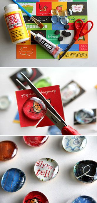 22 DIY Mothers Day Gift Ideas | Clever DIY Glass Magnets Using Flat Marbles | Homemade Mothers Day Gifts from Kids