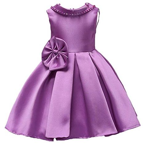 ADHS Kids Baby Flower Girl Formal Occasion Wedding Gowns Sleeveless Long Dresses