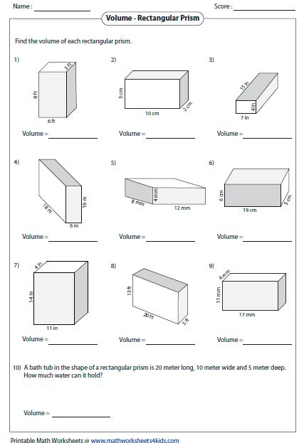 Volume Of Prisms Level 2 Mathematics Pinterest Worksheets