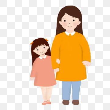 Mothers Day Mother Mom Child Daughter Mother And Daughter Illustration Png Transparent Clipart Image And Psd File For Free Download Cartoon Clip Art Kids Background Mom Clipart