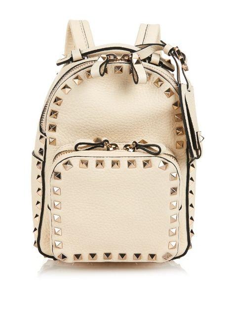 459aea5498 Valentino Rockstud leather mini backpack | Valentino | Leather ...