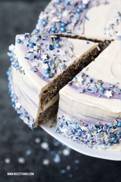 Galaxy Torte Rezept Mit Mohn Weisser Schokolade Und Pflaume Nicest Things Kuchen Und Torten Kuchen Und Torten Rezepte Torten Rezepte