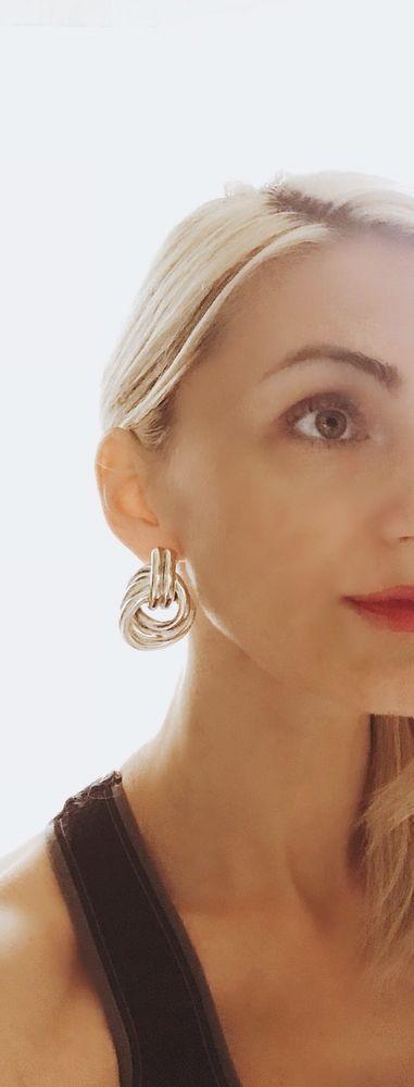 Statement earrings Israeli Jewelry Large drop earrings Drop earrings Dangle earrings statement jewelry Sterling drop earrings