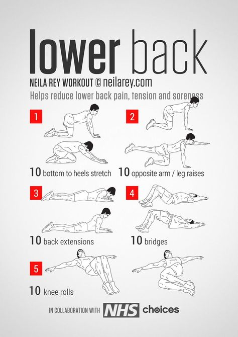 Lower Back Workout.To Help Reduce Lower Back Pain, Tension, Stiffness and Soreness