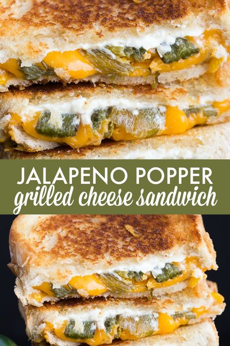 Jalapeno Popper Grilled Cheese Sandwich – Take your lunch to a whole new spicy level! Jalapeno Popper Grilled Cheese Sandwich – Take your lunch to a whole new spicy level! Jalapeno Poppers, Jalepeno Popper Grilled Cheese, Grill Cheese Sandwich Recipes, Steak Sandwiches, Burger Recipes, Grilled Cheese Recipes Easy, Grilled Sandwich Ideas, Healthy Panini Recipes, Grilled Cheese Sandwiches
