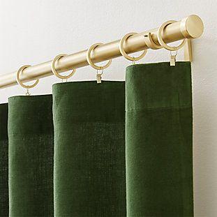 Ezria Green Linen Curtain Panel Crate And Barrel Panel
