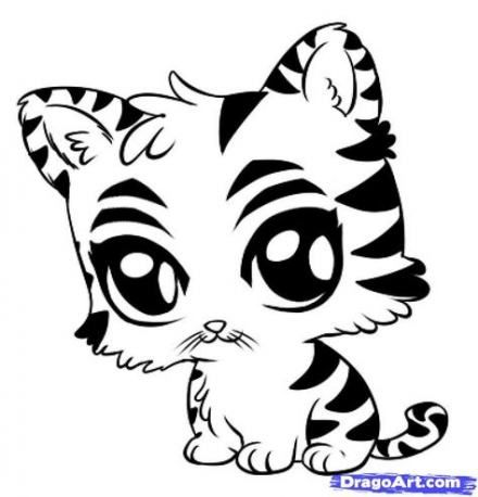 59 Ideas For Drawing Animals Tiger Coloring Pages Cartoon Drawings Of Animals Easy Animal Drawings Animal Drawings