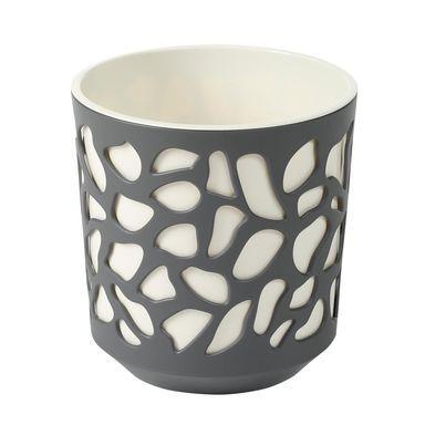 Doniczka Plastikowa 14 Cm Kremowo Antracytowa Duet Lamela Doniczki W Atrakcyjnej Cenie W Sklepach Leroy Merlin Glassware Tableware Mugs