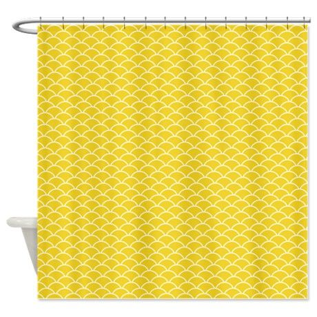 Yellow Fish Scales Shower Curtain By Kwgdesigns Cafepress