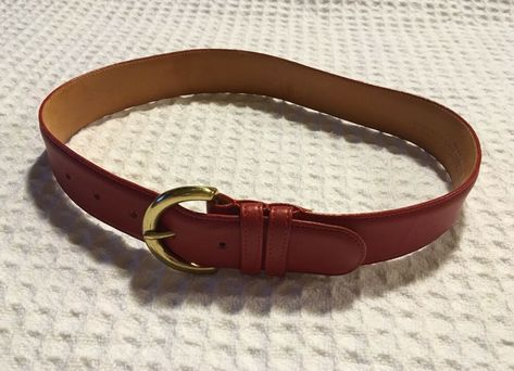 John Varvatos Collection Harness Buckle Tan Fabric//Leather Belt Size 42