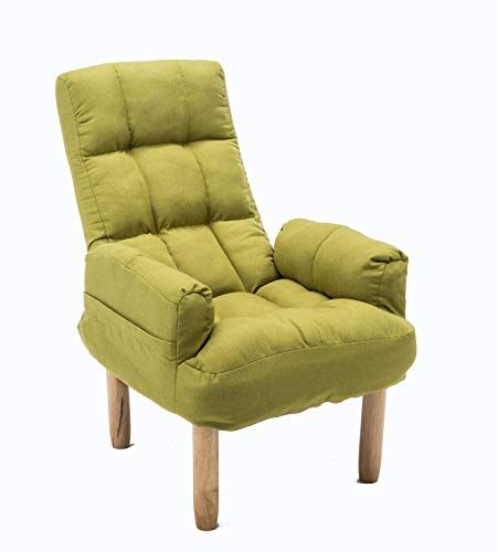 Mbd Lazy Couch Sofa Chair Comfortable Folding Recliner Single Fabric Sofa Color Green With Images Sofa Colors Comfortable Chair Fabric Sofa