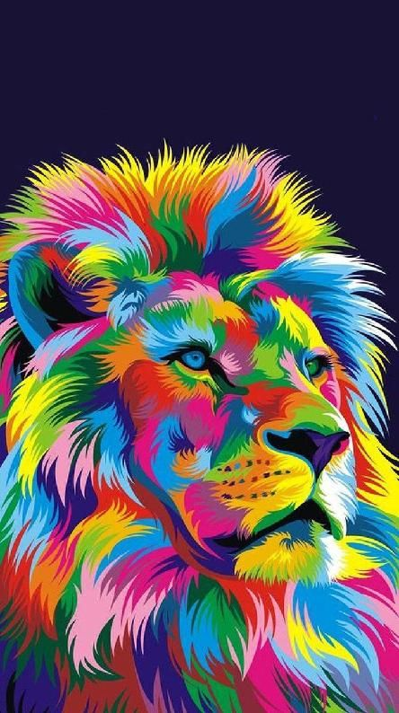 Image Result For Rainbow Lion Wallpaper Abstract Lion Colorful Lion Lion Art Colourful lion wallpaper hd