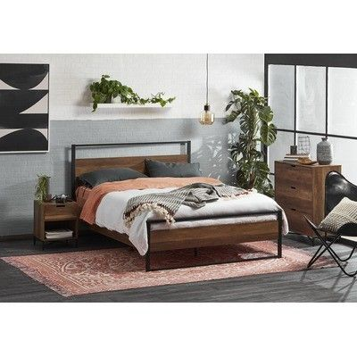 Kodu Industrial Austin Queen Bed Frame Reviews Temple Webster Room Ideas Bedroom Bed Frame Bed Furniture