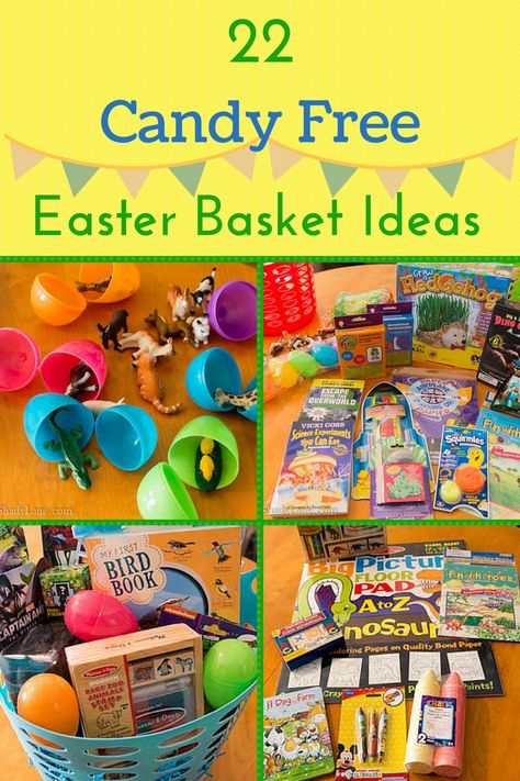 22 Candy Free Easter Basket Ideas - Fill your child's Easter basket with fun!
