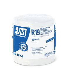 Johns Manville R 19 75 07 Sq Ft Unfaced Fiberglass Roll Insulation Wit Fiberglass Insulation Insulation Lowes Home Improvements