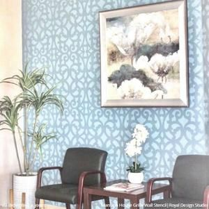 Mansion House Grille Trellis Wall Stencil Trellis Wall Stencil Large Wall Stencil Stencils Wall