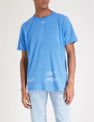 Off White C O Virgil Abloh London Cotton Jersey T Shirt Selfridges Com Shirts White C T Shirt