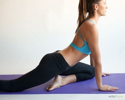 one leg glute stretch yoga - Google Search