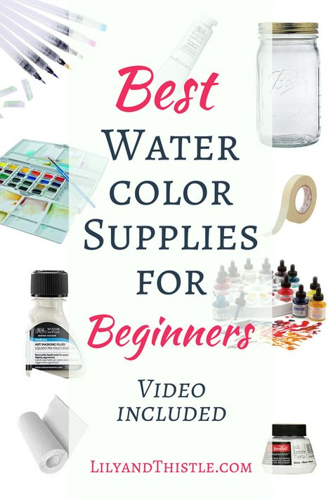A Detailed List Of Watercolor Supplies Especially For Beginners