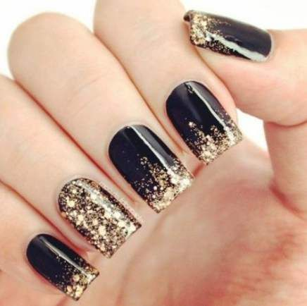 56 Trendy Nails Prom Gold Simple Black Gold Nails Gold Nails