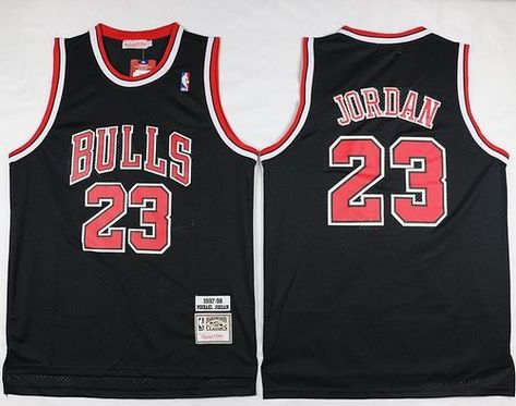 Mitchell And Ness Bulls  23 Michael Jordan Black Throwback Stitched NBA  Jersey c47736d66dea