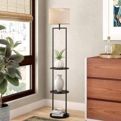 Zipcode Design Odalys Etagere 60 Floor Lamp Floor Lamp With