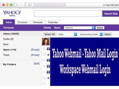 Yahoo Webmail Yahoo Mail Login Workspace Webmail Login