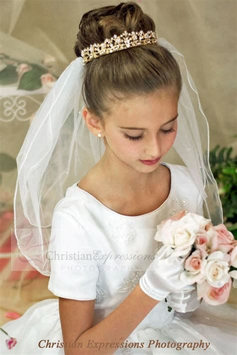 Updos With Veils Communion Yahoo Image Search Results Communion Hairstyles First Communion Hairstyles Communion Veils