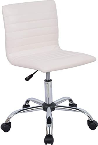 New Amazonbasics Modern Adjustable Low Back Armless Ribbed Task Desk Chair White Bifma Certified Online Shopping Nicetopnice In 2020 Desk Chair Chair Task Chair