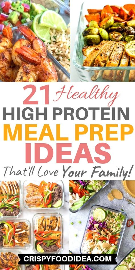 Are you looking for healthy and easy high protein recipes? These delicious high protein meal prep recipes are good for your diet. Get lots of nutrients and energy from these amazing recipes. Low Carb High Protein, Healthy High Protein Meals, High Protein Dinner, Low Calorie Lunches, High Carb Foods, Low Calorie Dinners, High Protein Recipes, Healthy Meal Prep, Low Calorie Recipes