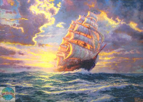 DIY Chart Counted Cross Stitch Patterns Needlework 14 ct Courageous Voyage