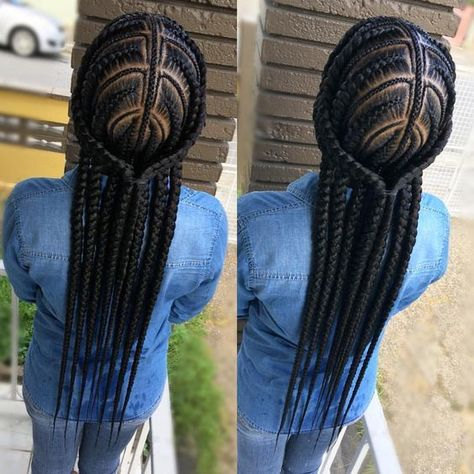Google Image Result for  boxbraidshairstyles #africanbraidshairstylespictures #braidedhairstylesforschool #africanbraidsstyles #braidstyles #protectivehairstyles #prettyhairstyles #afro #braidsforblackhair
